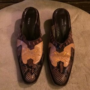 Hype Leather Cowboy Boot Mules Size 9.5